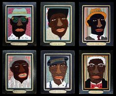8 Portraits Blues Men by Famous Artist Chris Roberts-Antieau, Father's Day Gift! #Outsider