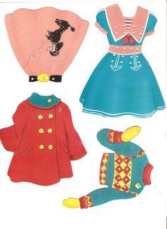 (⑅ ॣ•͈ᴗ•͈ ॣ)♡                                                            ✄Polly and Molly and Their Dolls 1958