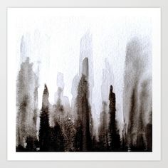 Abstract Cityscape Art Print by sophie_lemieux | Society6