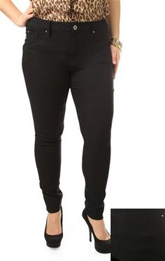 plus size ymi color superstretch skinny jeans
