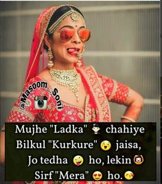 💕Follow me Nimisha Neha 💕 Attitude Thoughts, Attitude Quotes For Girls, Crazy Girl Quotes, Funny Girl Quotes, Girl Attitude, Crazy Funny Memes, Girly Quotes, Crazy Girls, Romantic Quotes In Hindi