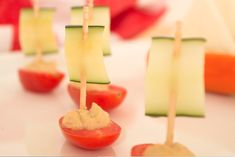 These veggie boats would be great snack foods for a pirate party or even a Columbus Day Party (Nina, Pinta, and the Santa Maria!) All I know is when you turn food into little boats it is makes it a million times more adorable. This concept is pretty simple to execute and you could make it with lots of different vegetables and spreads.