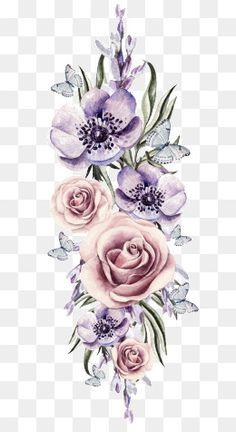 Flower Background Wallpaper, Flower Backgrounds, Flower Frame, Flower Art, Free Watercolor Flowers, Flower Png Images, Material Flowers, Cartoon Flowers, Cluster