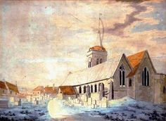 Joseph Mallord William Turner 'St John's Church, Margate', - Pen and ink and watercolour on paper - Dimensions Support: 308 x 435 mm - © Private Collection, UK Thomas Gainsborough, Joseph Mallord William Turner, Dante Gabriel Rossetti, William Hogarth, Watercolor Landscape Paintings, Landscape Drawings, Turner Watercolors, John Everett Millais, Turner Painting