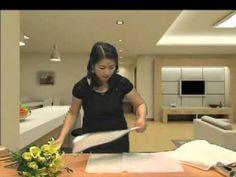 (손쉽게 만들어보는 장은옥의 플라워 디자인_09) 유산지로 포장한 꽃다발 - YouTube