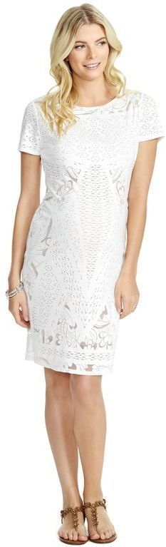 Jessica Simpson Burnout Maternity Dress
