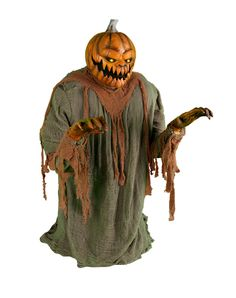 Lunging Pumpkin Animated Decoration - Watch out! Decorate your haunted house using the Lunging Pumpkin Animated Decoration on Halloween and freak out all of your guests. Halloween Zombie Props, Halloween Eyes, Halloween Cosplay, Halloween Pumpkins, Halloween Stuff, Holidays Halloween, Halloween Party, Spirit Halloween Animatronics, Animated Halloween Decorations