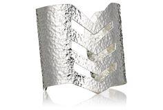 Silver Chevron Cuff