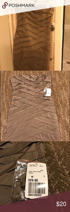 """Bandeau dress (NWT) Forever 21 Exclusive bandeau dress in taupe. NWT.  Size Medium.  Top to bottom full length is 25"""".  Sexy club dress! Dresses Strapless"""