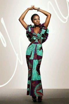 Amazing African print dress