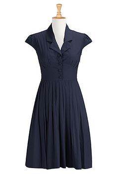 I <3 this Pleated poplin shirtdress from eShakti  -  check out the entire site, nice clothes with tailoring available, decent prices, fast service, very large size range.        lj