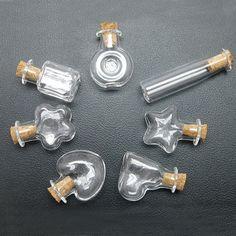 6-1200pcs Glass Mini Display Hand-Blown Bottles 7 Style