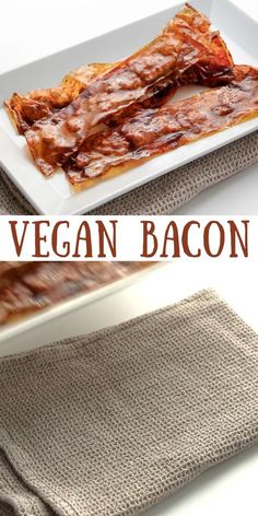 Vegan bacon made from rice paper and tofu. Where rice paper bacon and tofu bacon come together in bacon perfection! Crispy, meaty, and delicious! thehiddenveggies.com
