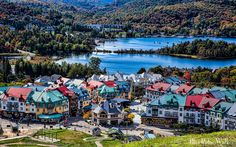 Mont-Tremblant Quebec, I Want To Travel, Blue Ridge, Places To Travel, North America, Dolores Park, Photos, Vacation, Explore