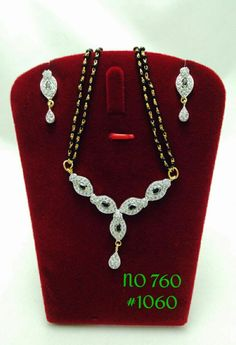 Traditional Mangalsutra with Earring Set 760