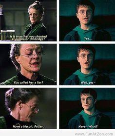 Professor Mcgonagall XD | Harry Potter | Have a Biscuit Harry | Professor Umbridge | plot twist | humor