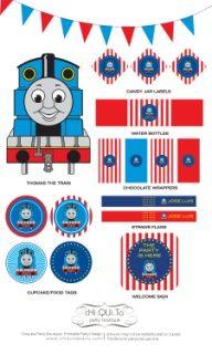 Printable Thomas The Train Birthday Party PDF by ChiquitaPB