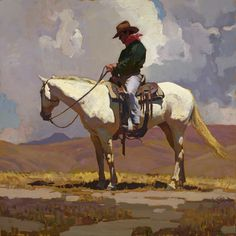 "Glenn Dean ""Holding Steady"" Oil x Art And Illustration, Illustrations, Illustration Fashion, Kunst Inspo, Art Inspo, Cowboy Art, Southwest Art, Le Far West, Autumn Art"