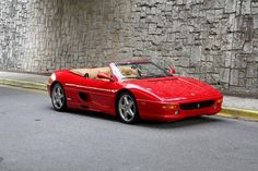 1996 Ferrari 355 Spider, Six-speed manual, Rosso Corsa over tan with black convertible top