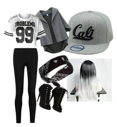 """Gray look! #cali"" by prfctolifestyleclothing on Polyvore featuring Donna Karan, claire's and Giuseppe Zanotti"