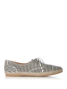 Dolly striped silk espadrille trainers | Tabitha Simmons | MAT...