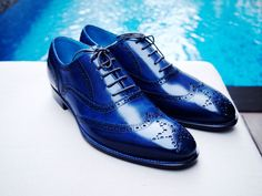 Dominique Saint Paul - full brogue shoes - hand coloured crust leather