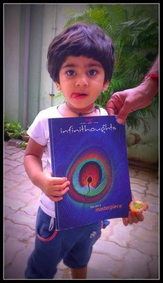 """Photo Contest Entry: """"I am surely a masterpiece and I promise I will read #infinithoughts when I will grow up,"""" says Jinal Jain"""
