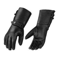 Mens Ultra Long Deerskin Gauntlet Motorcycle Gloves - LeatherUp.com