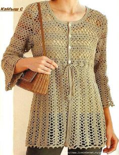 Crochet long blouse ♥LCT-MRS♥ with diagrams. The really good diagrams
