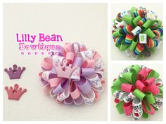 Loopy puff bow your theme you pick colors by LillyBeanBowtique on Etsy https://www.etsy.com/listing/385290900/loopy-puff-bow-your-theme-you-pick
