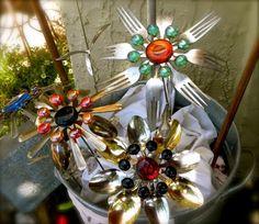 silverware yard art by herland