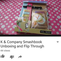 Unboxing and flip through of my first smashbook. It was a Christmas gift and I love it! #smashbook #smash #smashbooking #k&company #kandcompany #youtube #thenerdjournals #videos