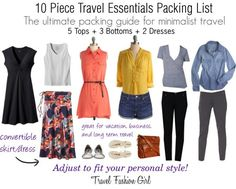 10 pieces essential packing guide From Travel fashion girl