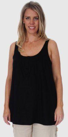 Women's Lauren Kiyomi Slub Button Tank (Maternity) - More Colors Available, S, Black Lauren Kiyomi. $38.00