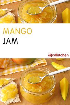 Made with mango, lemon juice, sugar, pectin | CDKitchen.com