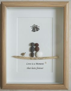 Pebble Art framed Picture Wedding Couple Love is a