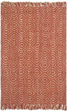 $5 Off when you share! Safavieh Natural Fiber NF445A Rust Rug | Contemporary Rugs #RugsUSA