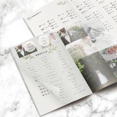 プロフィールブック/結婚式/席次表/メニュー表/セミオーダー/上品/海外風/グリーン/上品/ナチュラルprofilebook/wedding/lightgreen/green