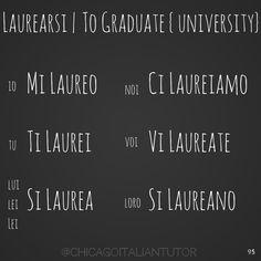 laurearsi | to graduate {university} {day 95}  #laurearsi #tograduate #university #parliamoitaliano #impariamoitaliano #speakitalian #studyitalian #learnitalian #dailyitalian #italian #italianwords #everydayitalian #speakitalianeveryday #100dayosfverbs #verbchallenge #italianlessons #italiantutor #chicagoitalian  https://instagram.com/chicagoitaliantutor/