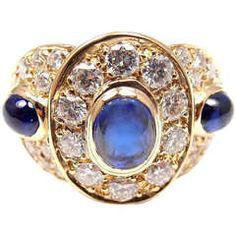 Van Cleef & Arpels Sapphire Diamond Yellow Gold Ring