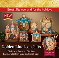 Explore the Monastery Icons Golden Line Icon Gifts and much more with our Great Christmas Gifts under $40!