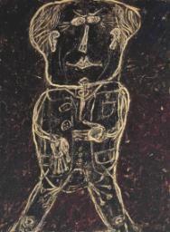Jean Dubuffet 'Monsieur Plume with Creases in his Trousers (Portrait of Henri Michaux)', 1947 © ADAGP, Paris and DACS, London 2014