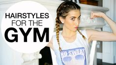Your hair can still look cute even when you're at the gym! Cool Short Hairstyles, Workout Hairstyles, Braided Hairstyles, Short Hair Styles, Workout Session, Clip In Hair Extensions, Going To The Gym, Hair Videos, Hair Designs