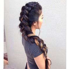 I wouldn't have the braid all the way the the top of my head, but still--it's very interesting and creative.