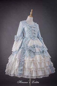 Hinana -Rococo- Vintage Classic Lolita OP Dress (Preorder - 9 Colors Available) Old Fashion Dresses, Old Dresses, Pretty Dresses, Vintage Dresses, Fashion Outfits, Harajuku Fashion, Kawaii Fashion, Lolita Fashion, Cute Fashion