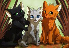 Lionblaze, Hollyleaf, and Jayfeather / Firestar, Ravenpaw, and Greystripe!