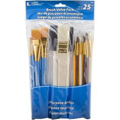 Loew Cornell Brushes Painting Brush Set Acrylic Paint Brushes 25Pcs Art Supplies #LoewCornell