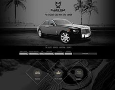 """Check out new work on my @Behance portfolio: """"Black Cat Chauffeurs"""" http://on.be.net/1K639lp"""