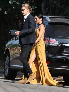 Vanessa Hudgens and Austin Butler Head to an Event