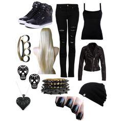 """""""Black freakin spy outfit"""" by hayleycavanaugh on Polyvore"""